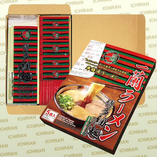 一蘭ラーメン 博多細麺(ストレート) 一蘭特製赤い秘伝の粉付